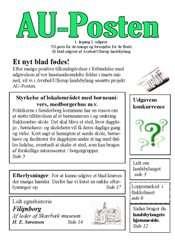 AU-Posten 1.Årgang 1.Udgave